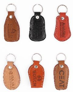 Leather and Rexine Keychains