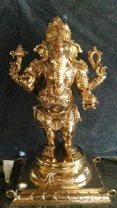 Bronze Golden Ganesha