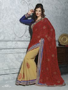 Ethnic Partyware Embroidered Saree