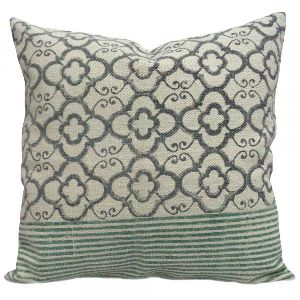 Hand Block Printed Rugs Cushion Cover