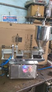 Two Head Electro-Pneumatic Syringe Gel Filling Machine
