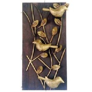 Bird & leaf wall hanging with candle stand