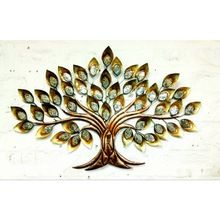Designer Leaf Metal Wall Hanging