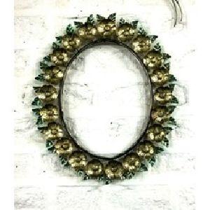 Flower Leaf Frame Mirror