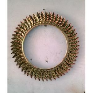 Golden Leaf Frame Mirror