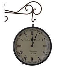 Iron Railway Theme Side Clock