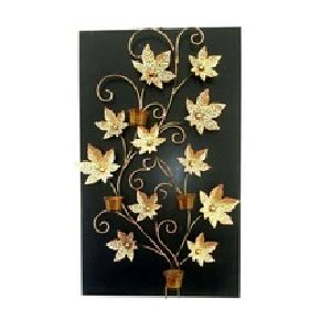 Maple Flower wall hanging with candle stand