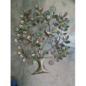 Multi colored Kalpvruksh Tree with Bird