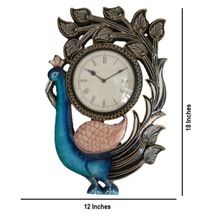 Standing Peacock Wall Clock