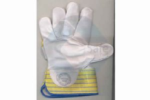 Pure Chrome Canvas Leather Hand Glove
