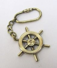 Brass Ship Wheel Key Ring