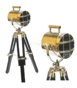 Vintage Hollywood Tripod Spotlight Lamp