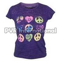 Teenage Girls Knitted Round Neck T-Shirts