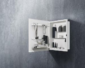 Duo In the Wall Bathroom Mirror Cabinet and Organizer