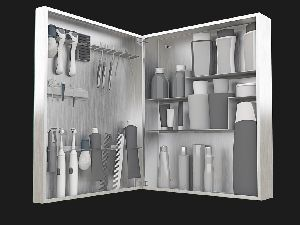 Men's Medium Mirror Bathroom Cabinet and Organizer