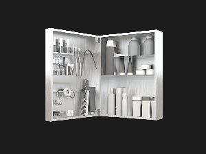 Women's Small Mirror Bathroom Cabinet and Make Up Organizer