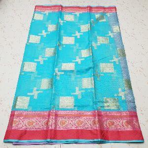 Kota Doria Silk Weaving Saree 03