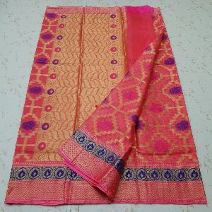 Kota Doria Silk Weaving Saree 05
