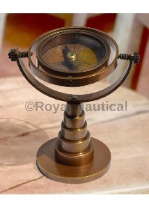 Antique Finish Nautical Vintage Table Compass Collectible