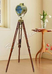 Antique Finish Tripod Stand Spot Light Floor Lamp