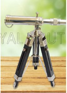 Chrome Finish Telescope With Stand
