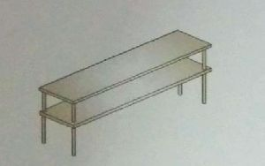 Fabricated Two Shelves Storage Rack