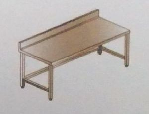 Fabricated Work Table with Bracing