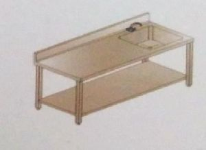 Fabricated Work Table with Sink