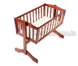 Wooden Baby Cot without Wheel 01