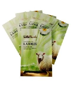 LANOLIN BAMBOO FACE MASK WITH COLLAGEN 5 PACK