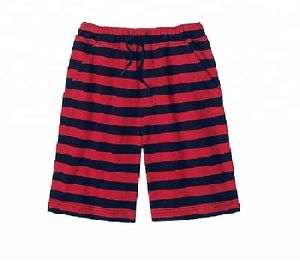 STRIPED JOGGER SHORTS FOR BOYS