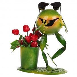 Gangnam Frog with specs Planter / pot