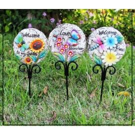 Garden / planters / vase Stones stake or sticks for decoration- set of 3