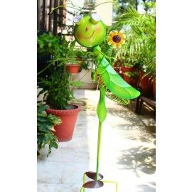 LOCUST WITH SOLAR LIGHT made of Metal for your Balcony or Garden Decor