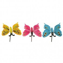 Plastic Butterfly with 11.5 Inches metal stick