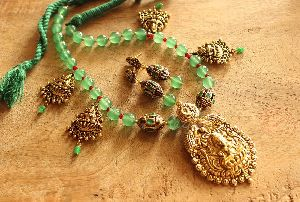 Antique Beaded Pendant Set