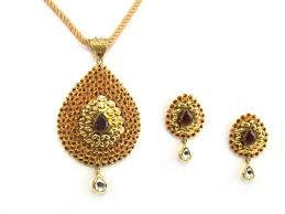 Antique Golden Pendant Set
