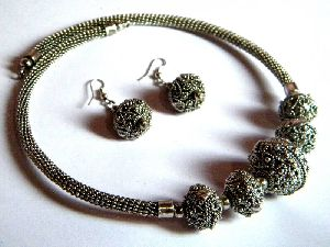 Antique Silver Necklace Set