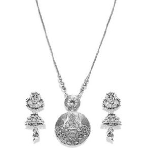 Antique Silver Pendant Set