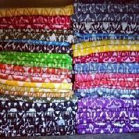 Multicolor Ikat Bed Cover