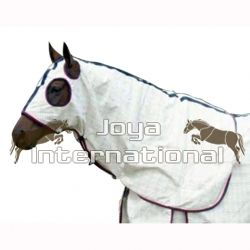 POLY COTTON HORSE RUG WITH HOOD SATIN LINED