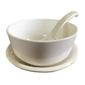 Ceramic Plain Soup Bowl Set