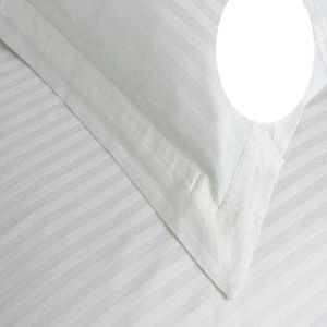 Pure White Self Design Cotton Double Bed Sheet Set 03