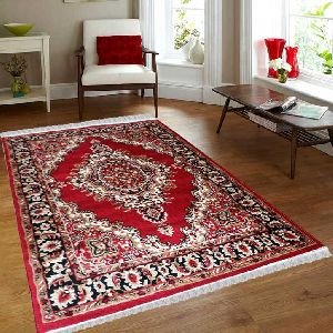 Red Traditional Floral Collection Carpet 03