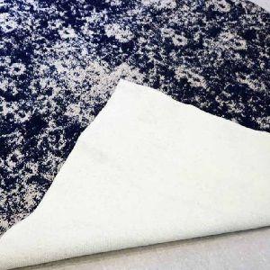 Tapestry Blue Floral Vintage Polyester Carpet 03