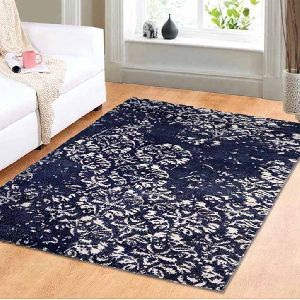 Tapestry Blue Vintage Polyester Carpet 01