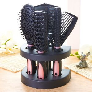 5Pcs Hair Comb Set Brush With Mirror