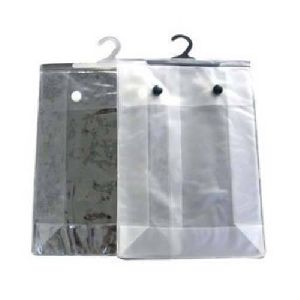 PVC Hook Button Hanger Bag
