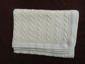 Knitted Cashmere Wool Blanket