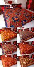 Kantha printed Cotton bedsheets double bed